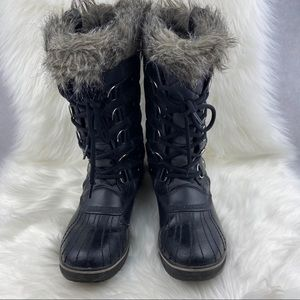 SOREL LACE UP BOOTS WITH FUR
